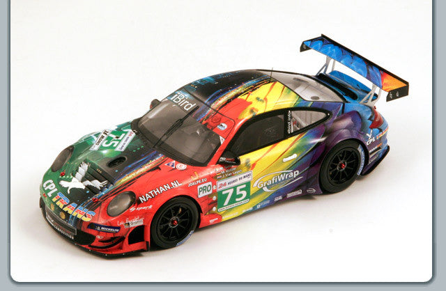 Spark 18S085 1/18 Porsche 997 GT3-RSR No.75 24 Hours of Le Mans 2011 LMGTE Pro Class Prospeed Competition Team Marc Goossens - Marco Holzer - Jaap van Lagen Models Resin LM Racing Car