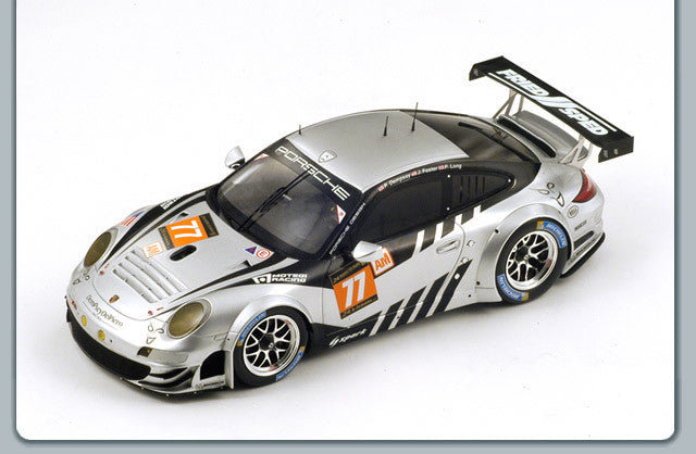 Spark 18S104 1/18 Porsche 911 GT3 RSR #77 24 Hours of Le Mans 2013 LMGTE Am Class Dempsey Del Piero-Proton Team Patrick Dempsey - Patrick Long - Joe Foster Resin Model LM Racing Car