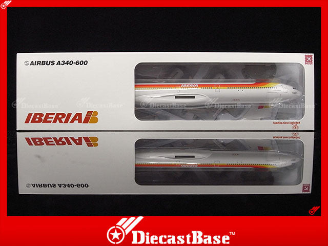 Hogan Wings 4081 1/200 Iberia IB IBE AIRBUS A340-600 Plastic Snap-Fit Model Commercial Aircraft Civil Aviation