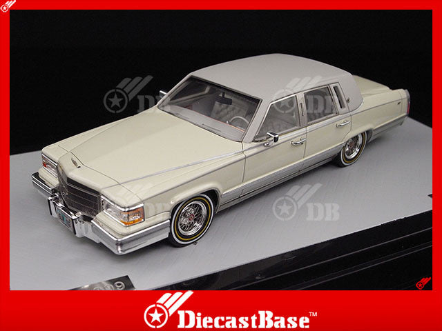 GLM 43100102 1/43 Cadillac Brougham 1991 White Resin Model Road Car