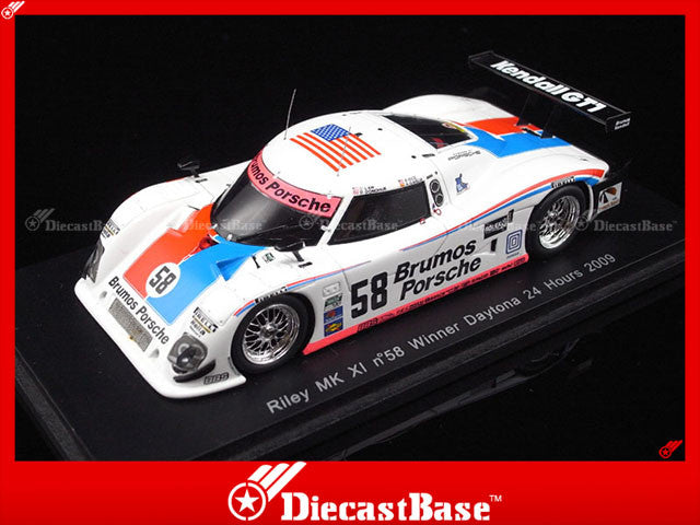 Spark 43DA09 1/43 Riley MK XI No.58 Winner Daytona 24 Hours 2009 D.Law - D.Donohue - B.Rice - A.Garcia 1:43 Diecast Model Racing Car