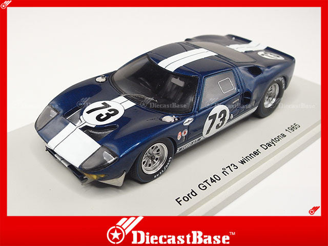 Spark 43DA65 1/43 Ford GT40 No.73 Winner Daytona 1965 K.Miles - L.Ruby 1:43 Diecast Model Racing Car