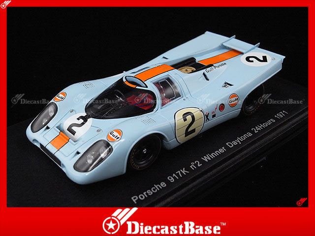Spark 43DA71 1/43 Porsche 917K No.2 Winner Daytona 24 Hours 1971 P.Rodriguez - J.Oliver 1:43 Diecast Model Racing Car