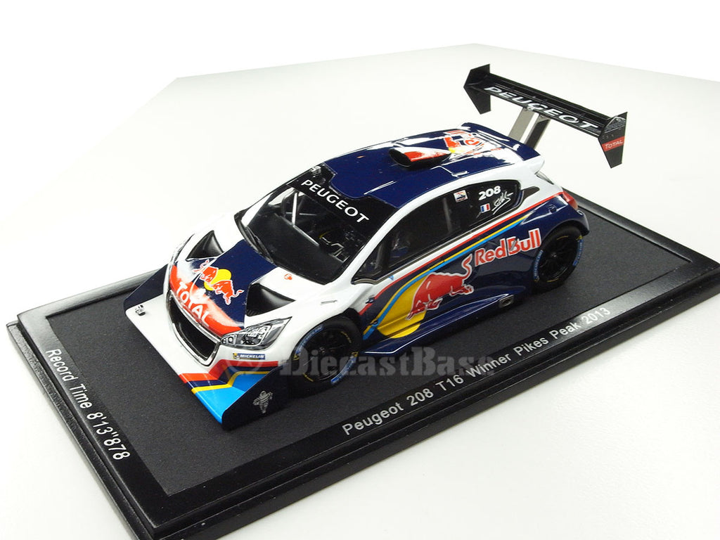 1/43 Peugeot 208 T16 Spark 43PP13  ~ top view ~ taken by DiecastBase