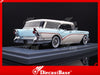 NEO 44067 1/43 Buick Century Caballero Estate SW Estate Wagon 1957 White / Light Blue Resin Model Road Car NEO scale models