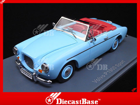 NEO 44385 1/43 Volvo P1900 Sport Light Blue Resin Model Road Car NEO scale models