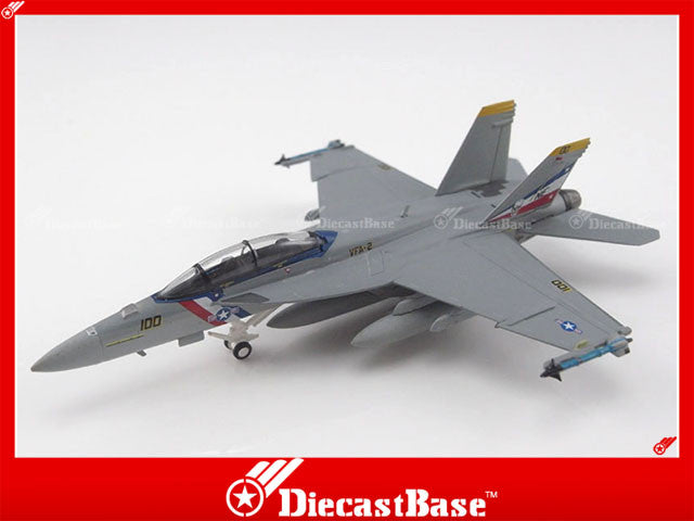 Hogan Wings Model 6184 1/200 F/A-18F US Navy VFA-2 Bounty Hunters (Fighting Two) NE 100 1:200 M-Series Diecast Military Aircraft Model