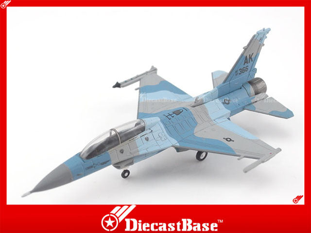 Hogan Wings Model 6313 1/200 F-16D Blk 30H USAF Eielson AFB 18th AGRS Blue Foxes AK 366 1:200 M-Series Diecast Military Aircraft Model