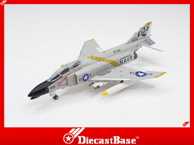Hogan Wings 6474 1/200 M-Series F-4 F-4B US Navy VF-84 Jolly Rogers CVW-7 CVA-62 USS Independence AG 208 Diecast Military Aircraft Model