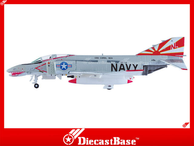 Hogan Wings Model 6719 1/200 F-4B US Navy VF-111 Sundowners CVW-15 CVA-43 USS Coral Sea NL 201 1:200 M-Series Diecast Military Aircraft Model