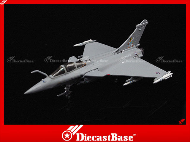 Hogan Wings Model 7556 1/200 Rafale M French Navy Flotille 12F Base Aeronavale Landivisiau Serial Number 2 1000 Hours commemorative scheme 1:200 M-Series Diecast Military Aircraft Model