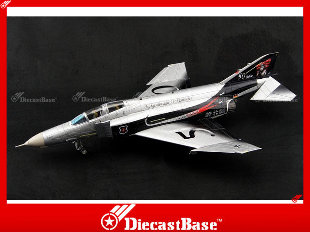 Air Commander AC1004 1/72 McDonnell Douglas F-4F Phantom II Luftwaffe JG 71 Richthofen 37+03 50th Anniversary 2009 1:72 Diecast Model Military Aircraft 330111