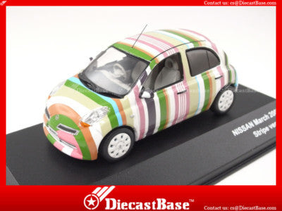 J-Collection JC211 Nissan March Stripe Version Diecast Road Car 1:43