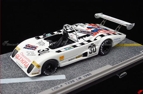 BIZARRE BZ520 1/43 Lola T298 24 Hours of Le Mans 1980 S 2.0 Class Captain America First Avenger Resin LM Resin Model Racing Car