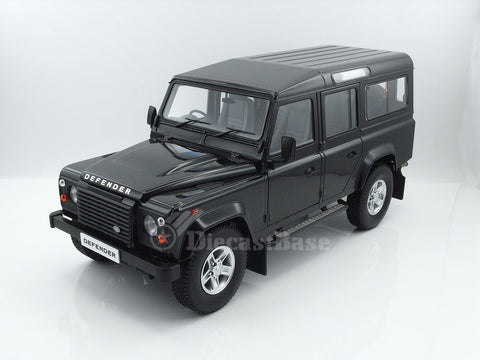 Century Dragon CDLR-1003B 1/18 Land Rover Defender 110 Station Wagon RHD (Santorini Black) Diecast Model Car