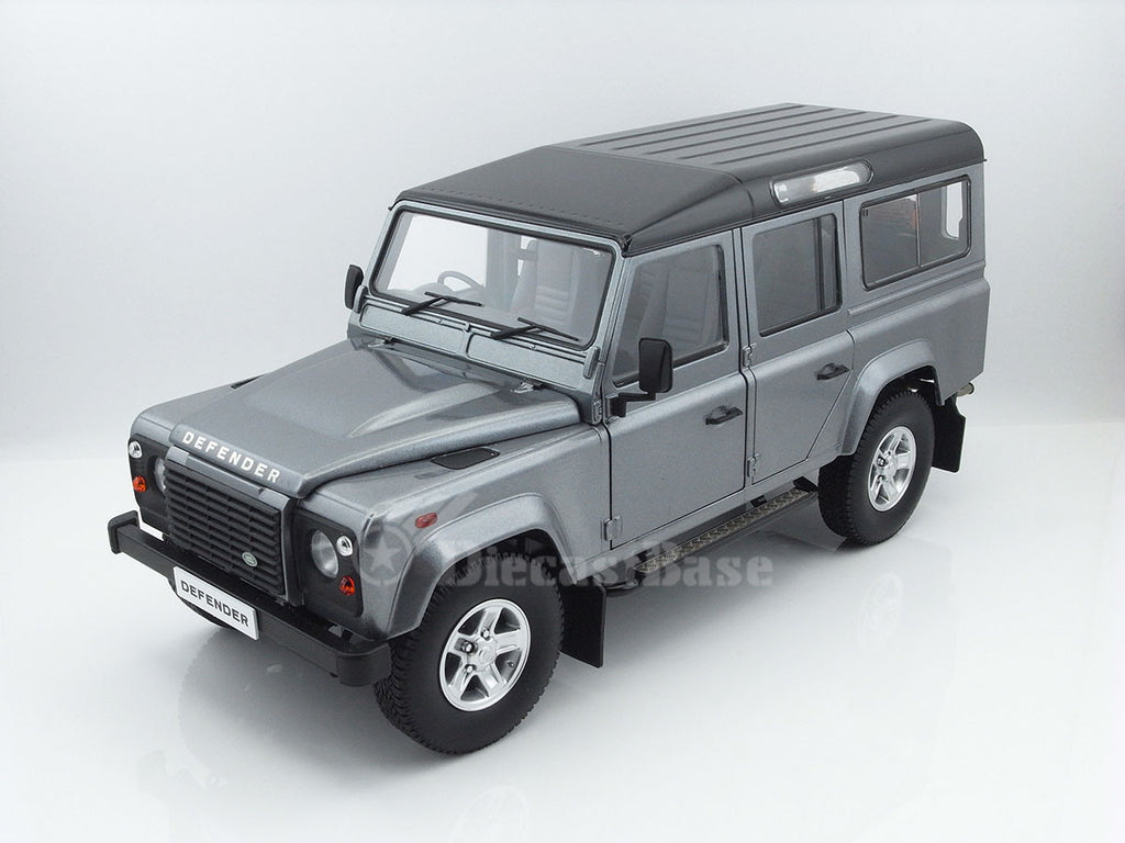 Century Dragon CDLR-1003C 1/18 Land Rover Defender 110 Station Wagon RHD (Orkney Grey Metallic) Diecast Model Car