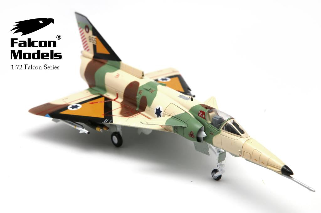 FA729004 FALCON MODELS IAI KFIR C2 No.855 the 1st Fighter Sqn. Israeli Air Force 1978 Diecast Military 1:72