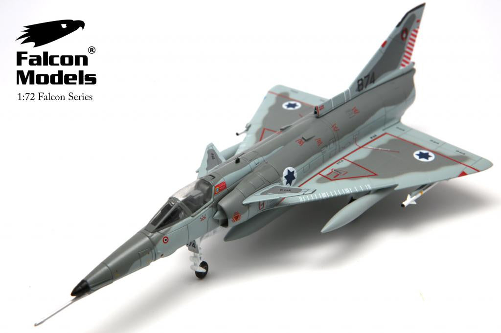 FALCON MODELS FA729005 1/72 IAI KFIR C2 No.874 the 1st Fighter Sqn. Israeli Air Force 1979 Diecast Military Jet