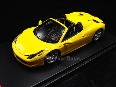 Fujimi FJM1243021 1/43 Ferrari F458 SPIDER Giallo Modena (Yellow) TSM Model Road Car Resin