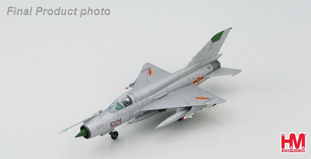 "HA0182 HOBBYMASTER MIG-21 MF Jet Fighter 5121 flown by Pham Tuan 921st ""Sao Do"" Dec 1972  Military Jet 1:72"