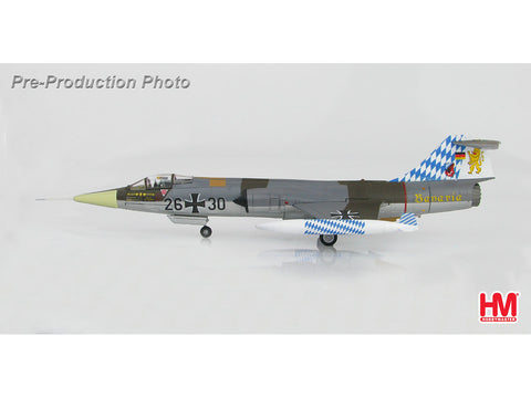 Hobby Master HA1033 1/72 Lockheed F-104G Starfighter 26+30 JG.32 Bavaria Luftwaffe July 1983 Diecast Model Military Aircraft