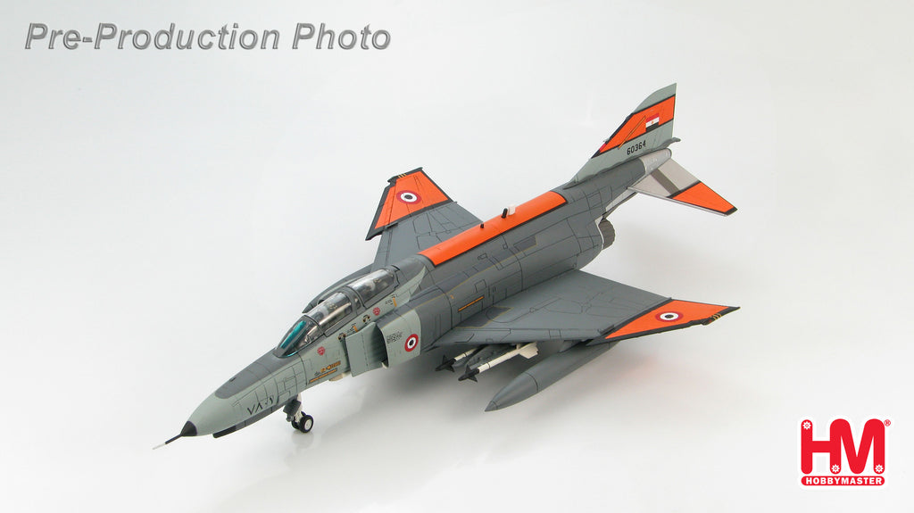 HOBBYMASTER HA1936 1/72 MD McDonnell Douglas F-4E Phantom II 66-0364 Egyptian Air Force 222 Tact Fighter Brigade 76 Squadron 1980s Military Jet Diecast
