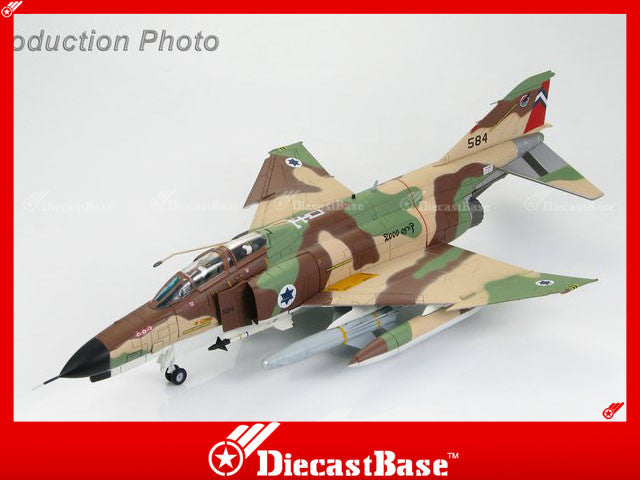 "HOBBYMASTER HA1939 1/72 F-4 F-4E ""Kurnass 2000"" s/n 584 201st Sqn. Israel Air Force 1970s Military Jet"