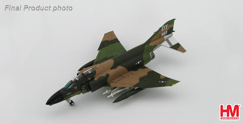 "HOBBYMASTER HA1973 1/72 MD F-4 McDonnell Douglas F-4D Phantom II 555th TFS Vietnam 1972 ""Steve Ritchie"" comes with signed name plate 5 red stars Military Jet"