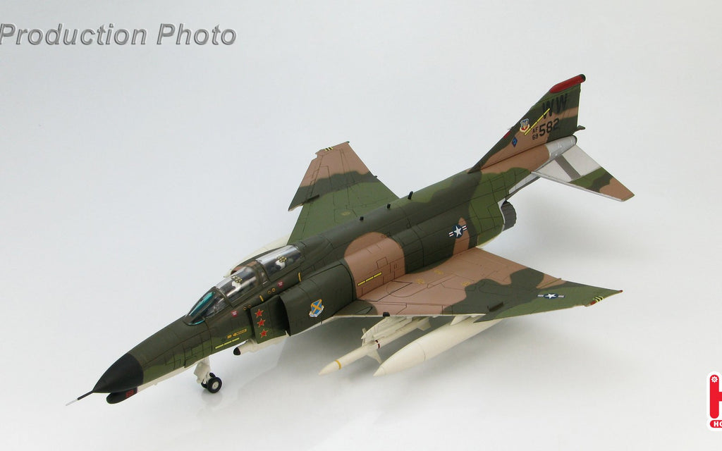 "HOBBYMASTER HA1981 1/72 MD F-4 McDonnell Douglas F-4G ""Wild Weasel"" 69-7582 37 TFW USAF 1980s Military Jet"
