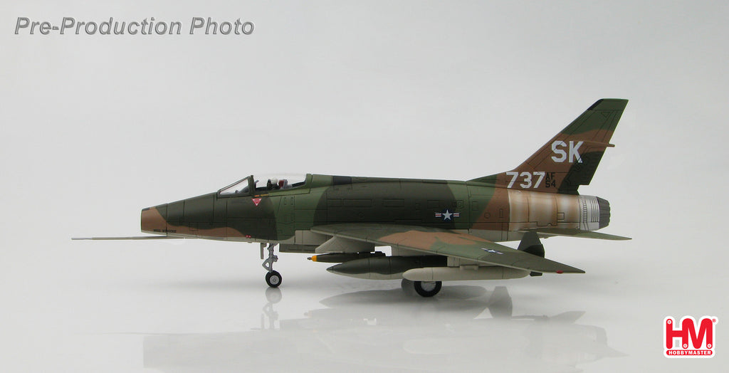 "HOBBYMASTER HA2116 1/72 F-100 F-100C Super Sabre SK-737 ""Miss Mynookie"" 188th TFS New Mexico ANG Tuy Hoa AB South Vietnam 1968  Military Jet 1:72"