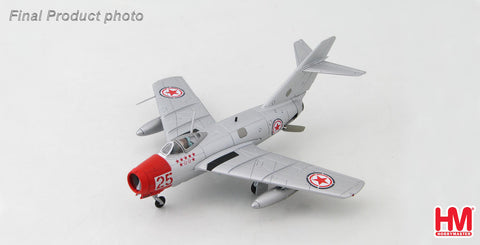 HOBBYMASTER HA2418 1/72 MIG-15 MIG-15bis No.25 Chinese People's Volunteers Air Force North Korea 1950s Diecast Military Jet