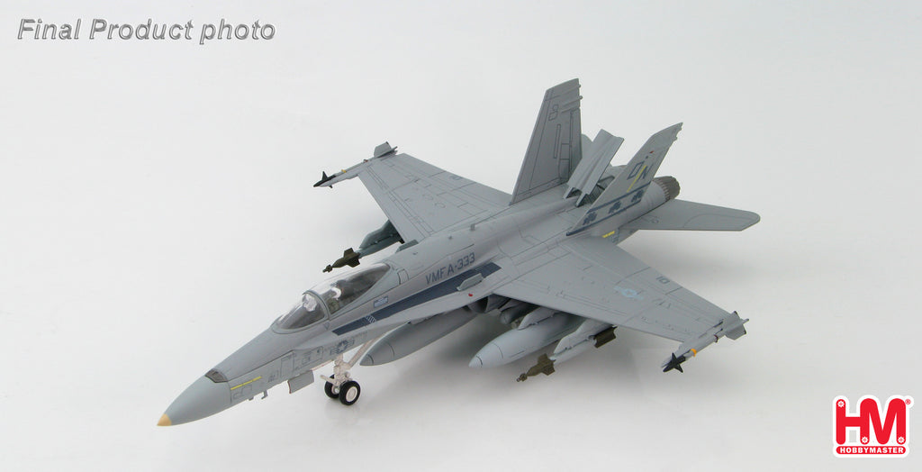 "HA3519 HOBBYMASTER McDonnell Douglas F/A-18A+ VMFA-333 ""The Shamrocks"" late 1980s Military Jet 1:72"