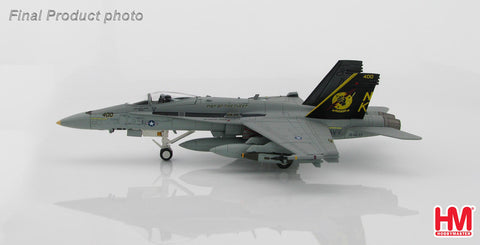 HOBBYMASTER HA3528 1/72 F-18 F/A-18C Hornet BuNo 164633 of VFA-25 USS Abraham Lincoln Northern Arabian Gulf April 2003 Diecast Military Aircraft Jet