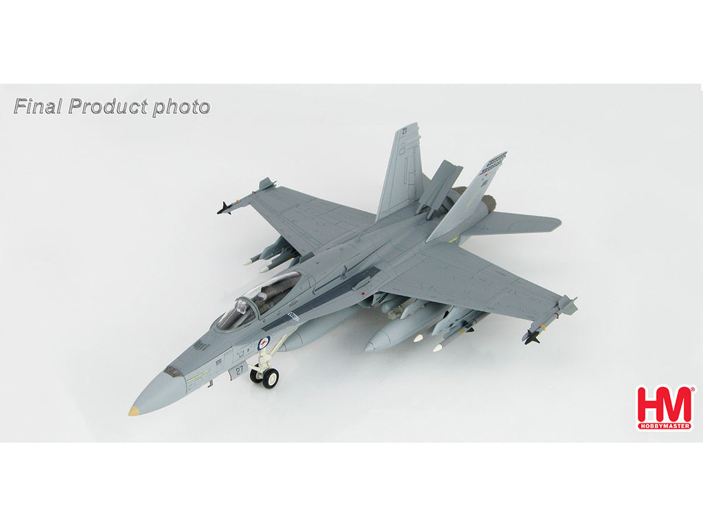 1/72 F/A-18A Hornet A21-27 75 Squadron RAAF 2003 Hobby Master HA3535  ~ top view ~ taken by DiecastBase