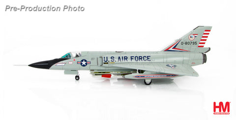 HOBBYMASTER HA3609 1/72 F-106 Convair F-106A Delta Dart 0-80795 Air Defence Weapons Center Tyndall AFB Florida Military Aircraft Jet Diecast