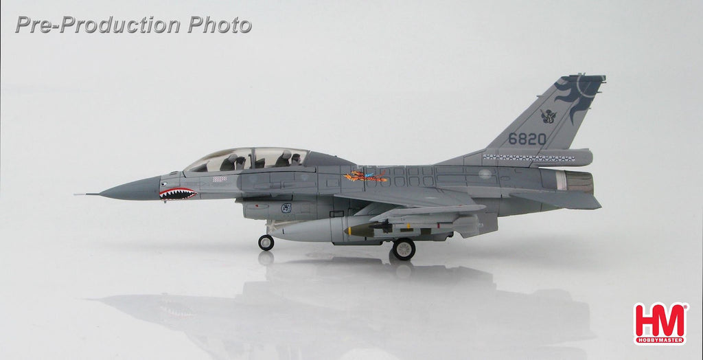 "HOBBYMASTER HA3832 1/72 F-16 Lockheed F-16B Fighting Falcon 6820 401st TFW ROCAF 2015 1st American Volunteer Group ""Flying Tigers"" commemorative scheme Diecast Military Aircraft Jet"