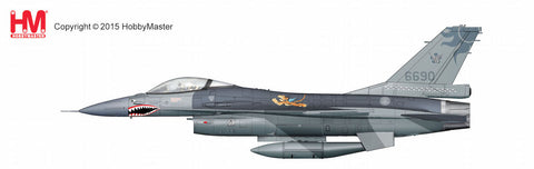 "HOBBYMASTER HA3833 1/72 F-16 Lockheed F-16A Fighting Falcon 6690 401st TFW ROCAF 2015 1st American Volunteer Group ""Flying Tigers""  commemorative scheme Diecast Military Aircraft Jet"