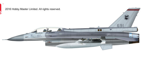 HOBBYMASTER HA3837 1/72 F-16 Lockheed F-16D Fighting Falcon 691 140 Sqn. RSAF Singapore Diecast Military Aircraft Jet