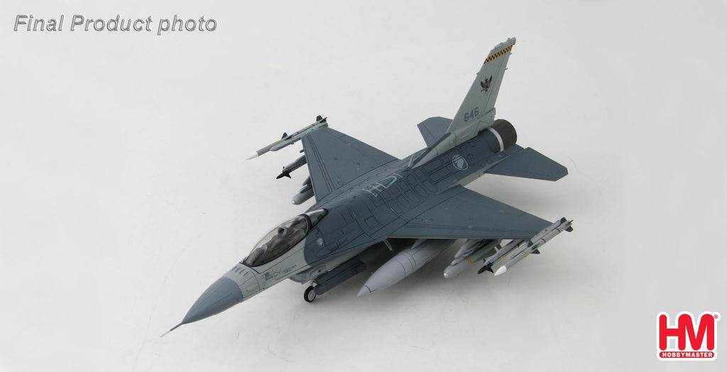HOBBYMASTER HA3839 1/72 F-16 Lockheed F-16C Fighting Falcon 646 143 Sqn. RSAF Singapore Diecast Military Aircraft Jet