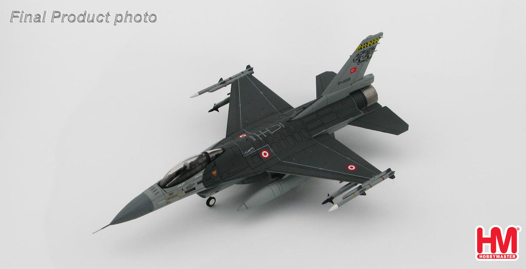 HOBBYMASTER HA3840 1/72 F-16 Lockheed F-16C Turkish MiG-23 Killer 91-0008 Diecast Military Aircraft Jet