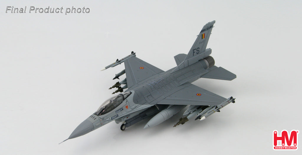 HOBBYMASTER HA3853 1/72 F-16 Lockheed F-16AM Block 15 FA-117 Belgian Air Force. 2008 Military Jet