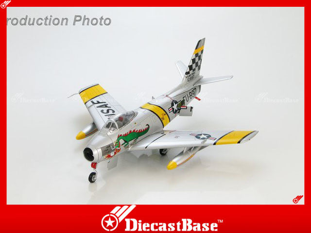 "HOBBYMASTER HA4301 1/72 North American F-86F Sabre ""The Huff"" flown by Lt. Jim Thompson 39th FIS, K-13 (Suwon AB) South Korea June 1953 Military Jet"