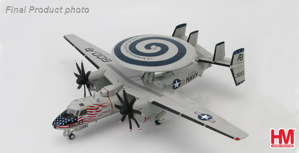 "HOBBYMASTER HA4801 1/72 E-2C+ Hawkeye 2000 VAW-123 ""Screwtops"" USS Enterprise Atlantic Ocean Oct 2005 Military Diecast Propeller 1:72"