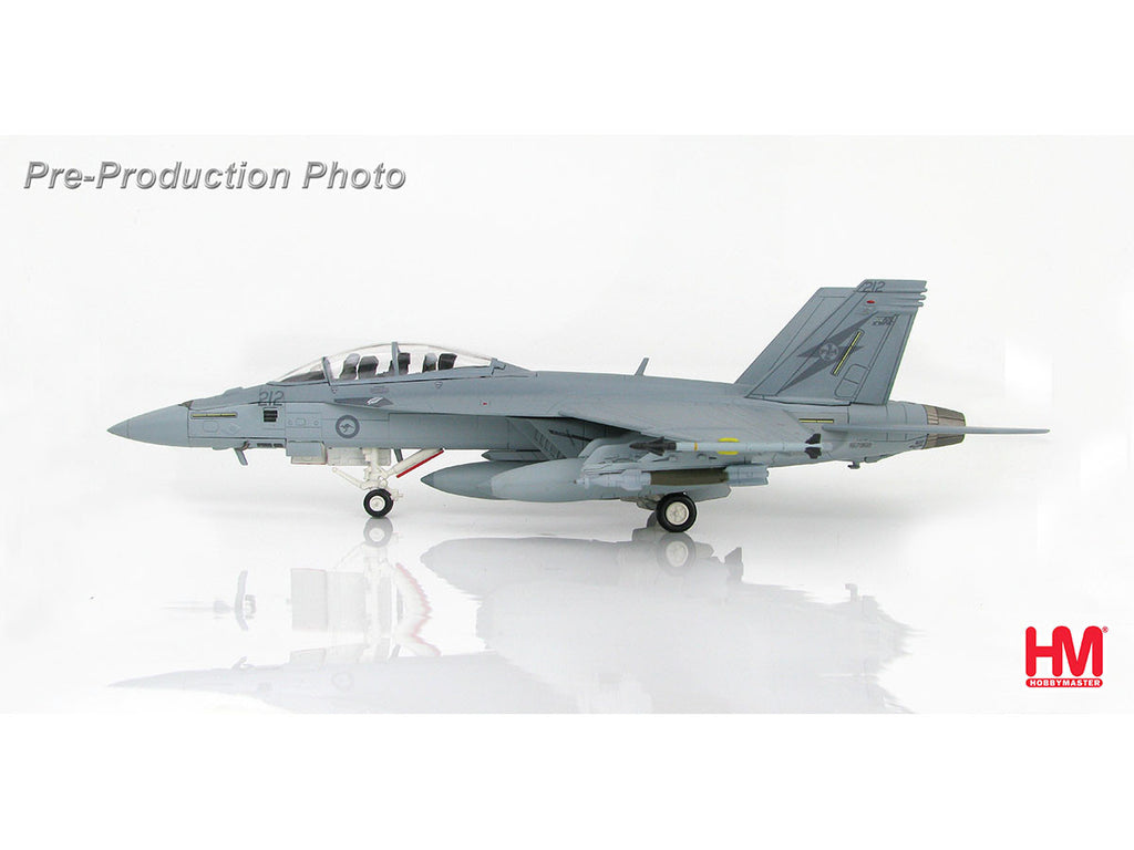 1/72 McDonnell Douglas F/A-18F Super Hornet A44-212 1st Sqn. RAAF Operation Okra Hobby Master HA5103  ~ top view ~ taken by DiecastBase