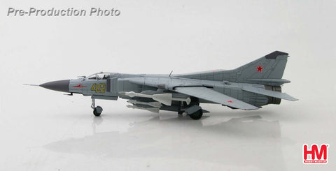 "HOBBYMASTER HA5301 1/72 MIG-23 MIG-23M Flogger ""Yellow 49"" 787th IAP Eberswalde Finow AB Brandenburg East Germany 1970s Military Jet Diecast"