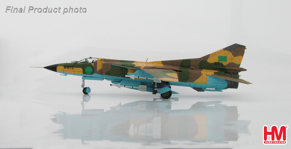 HOBBYMASTER HA5302 1/72 MIG-23 MIG-23MS 6915 Libyan Air Force 1980s Military Jet Diecast