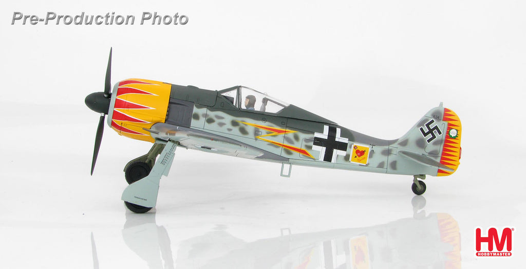HOBBYMASTER HA7419 1/48 FW-190 FW 190A-4 W. Nr. 634 Major Hermann Graf JG 2 France 1943 Military Propeller Diecast