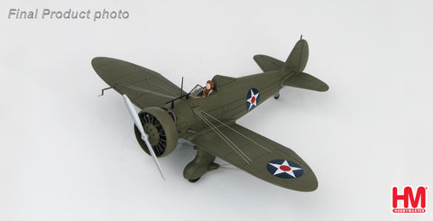 HOBBYMASTER HA7508 1/48 P-26 Boeing P-26A Peashooter Wheeler Field Hawaii December 1941 Military Aircraft Diecast Propeller
