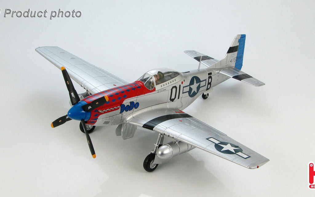 "HOBBYMASTER HA7720B 1/48 P-51 P-51D Mustang QI-B ""DoDo"" flown by Captain Clinton Burdick 361st FS 356th FG 8th USAAF England 1944 Military Propeller"