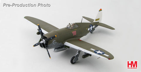 "HOBBYMASTER HA8452 1/48 P-47 P-47D Thunderbolt ""Razorback"" 42-22668 Col. Neel Kearby ""Fiery Ginger IV"" 348th FG. New Guinea March 1944 Military Propeller Diecast"